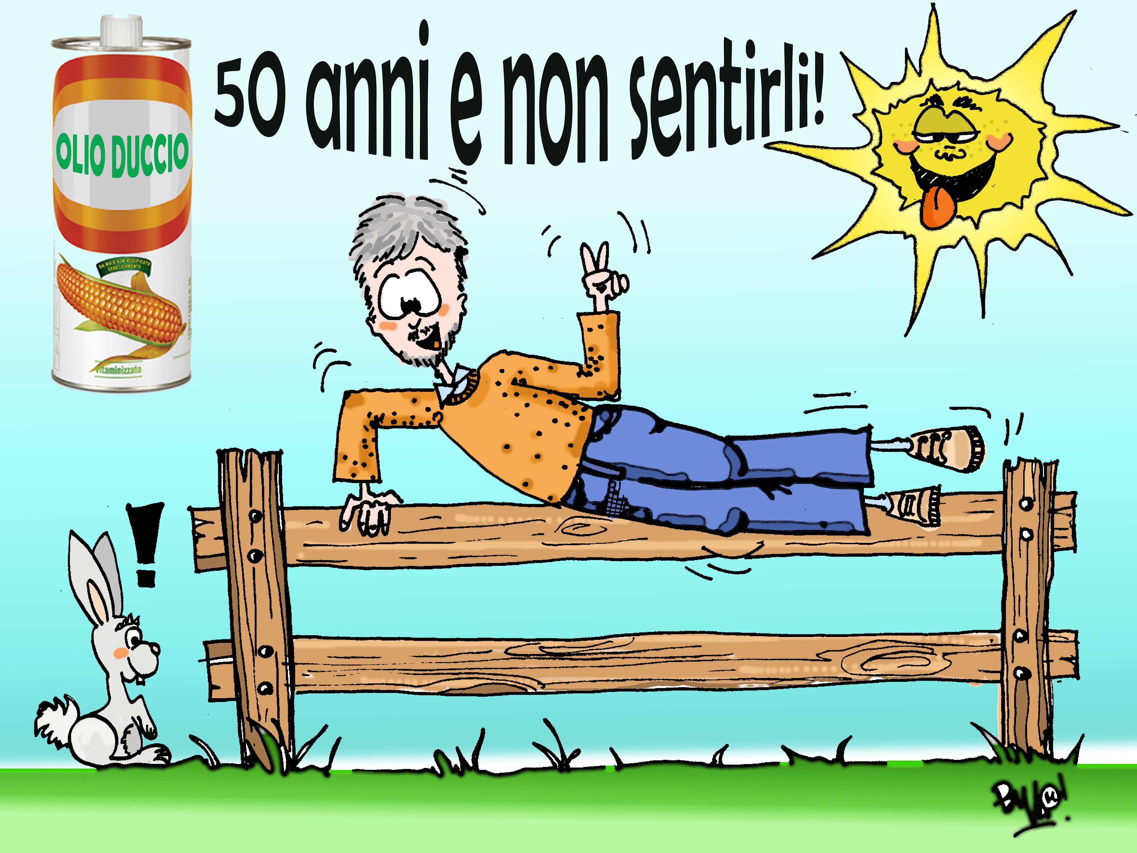 Eccezionale BIGLIETTO PER IL COMPLEANNO DI DUCCIO - 50 ANNI | VALE TI DISEGNA PR89